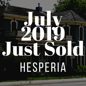 Hesperia July 2019 Just Sold