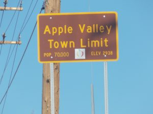 Apple Valley Town Sign
